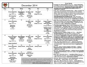 Cal December 2014