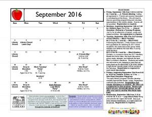Cal September 2016