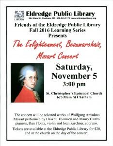 Mozart concert flyer