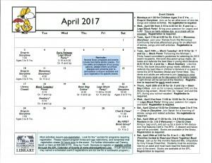 Cal April 2017