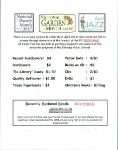 april book sale flyer
